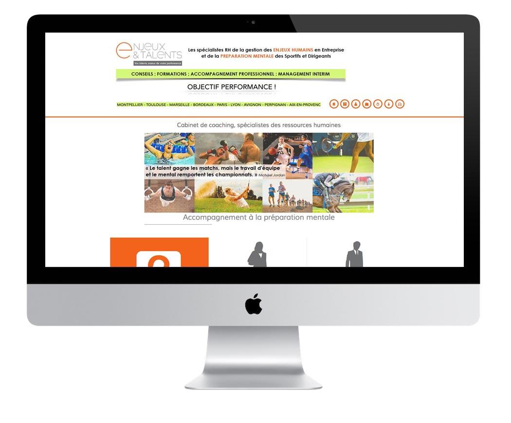 Création du site internet de coaching Enjeux et Talents