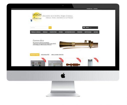Création, alimentation et gestion du site e-commerce en tringle à rideau et accessoires de décoration avec Prestashop