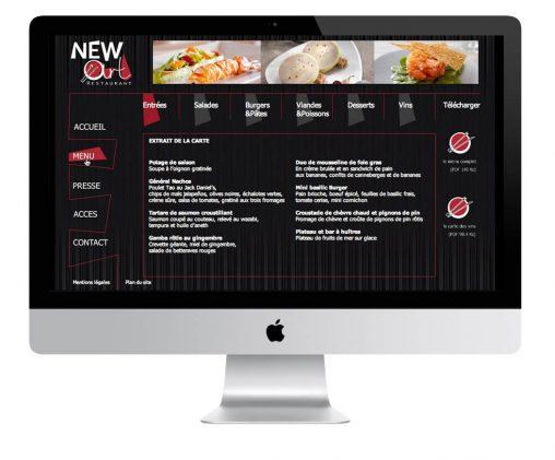 Création de site - menu en Flash - bandeau Gif