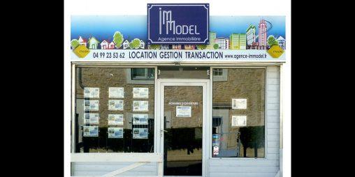 Photo de l'enseigne Immodel posée sur site