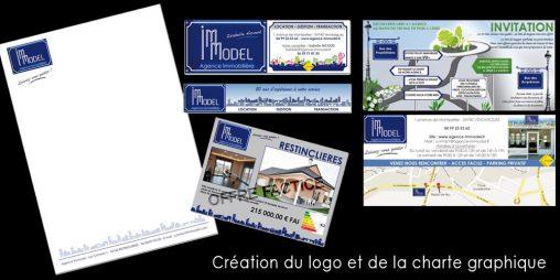 Création de la charte graphique de l'agence Immodel