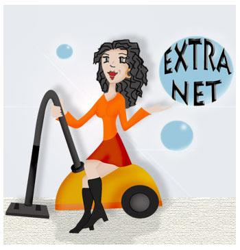 Logo Société de nettoyage Extra Net