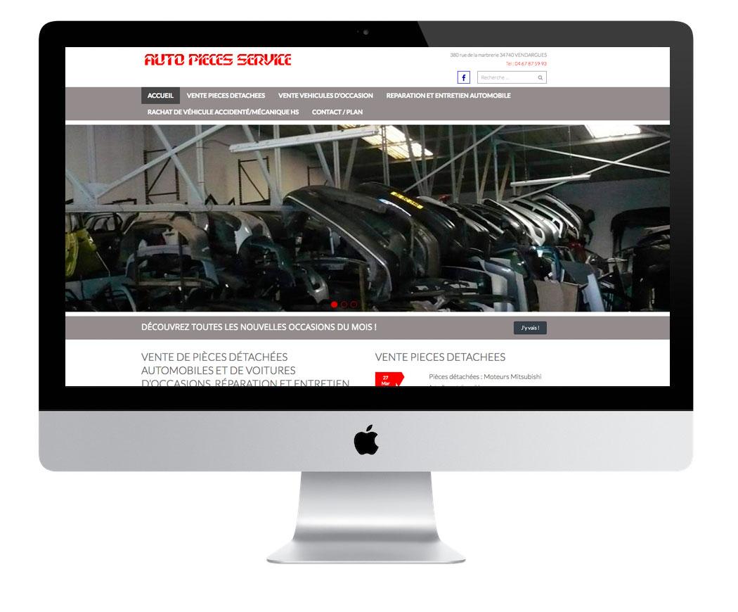Création du site Auto Pièces Service