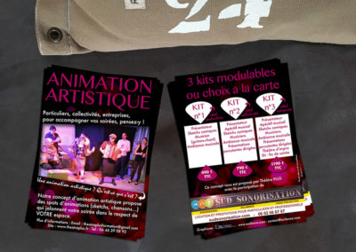 Flyer Format A6 - Animation artistique