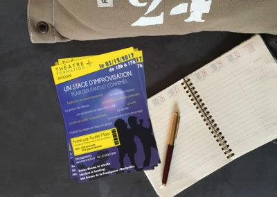 A5 recto – Stage d'improvisation théâtrale