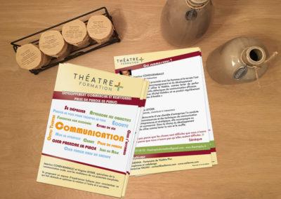 A5 recto verso – Stage coaching prise de parole – Théâtre plus