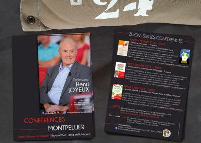 Flyer A5 recto-verso – Conférences Pr. Joyeux