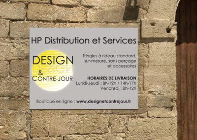 Création d'un panneau d'enseigne pour la société HP distribution et Services