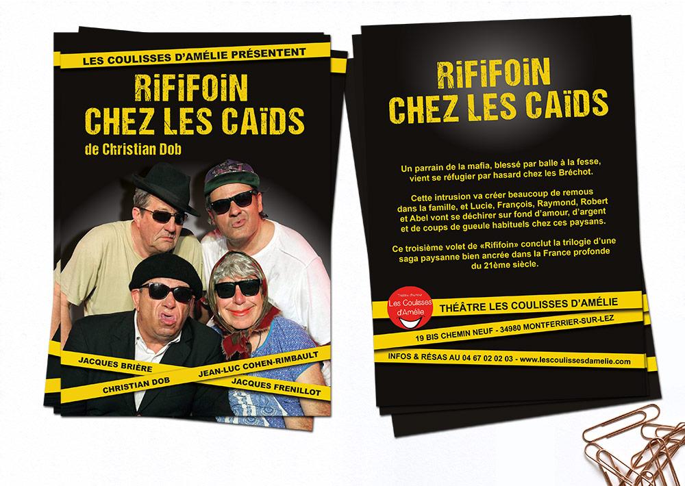 Flyer A5 Pièce de théâtre - Rififoin chez les Caïds de Christian DOB