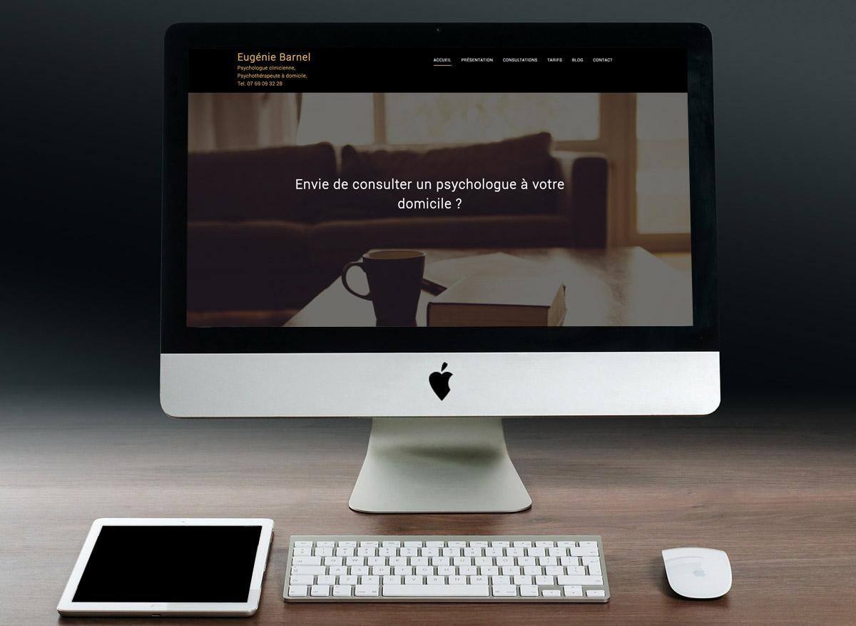 Création d'un site vitrine pour une psychologue clinicienne et psychothérapeute à domicile