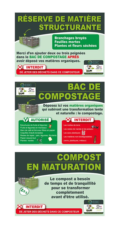 Création de panneaux explicatifs pour composteur